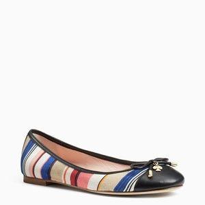 Kate Spade Striped Cap Toe Ballet Flats